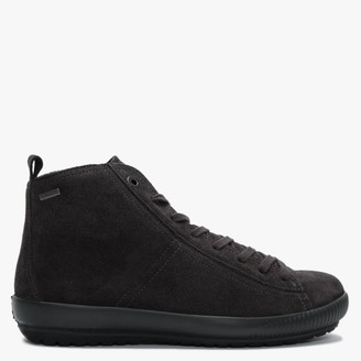 Legero Winter Grey Suede High Top Trainers