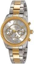 Invicta Women's Angel Gold-Tone Steel Bracelet & Case Quartz -Tone Dial Analog Watch 21425