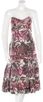 Carolina Herrera Silk Jacquard Dress