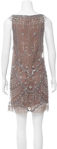 Jenny Packham Beaded Sleeveless Dress