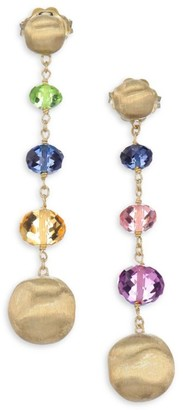 Marco Bicego Africa 18K Yellow Gold & Mixed Gemstone Drop Earrings