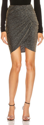 IRO Tacite Skirt in Black & Silver | FWRD