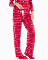 Soma Intimates Pajama Pants Merry & Bright Words Ruby