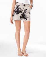 INC International Concepts Curvy Floral-Print Shorts, Created for Macy's