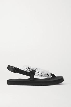 Cecilie Bahnsen Suicoke Kat Embellished Canvas Sandals - Black