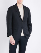 Canali Table-cloth check regular-fit wool jacket