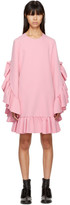 MSGM Pink Long Sleeve Ruffle Dress