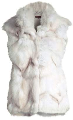 Glamour Puss Glamourpuss Fox Fur Sectioned Vest