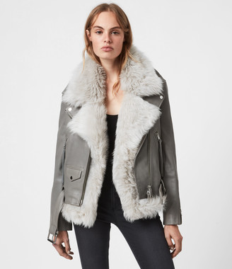 AllSaints Luna 4-In-1 Shearling Biker Jacket