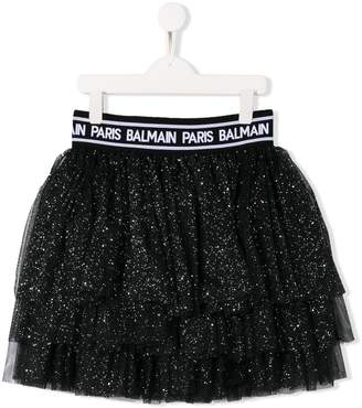 Balmain Kids glitter tutu skirt