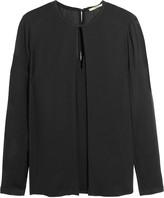 J Brand Salinas crepe blouse