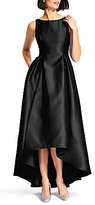 Adrianna Papell Hi-Low Sleeveless Taffeta Gown