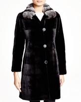 Maximilian Furs Maximilian Sheared Mink Reversible Coat with Chinchilla Collar - 100% Exclusive