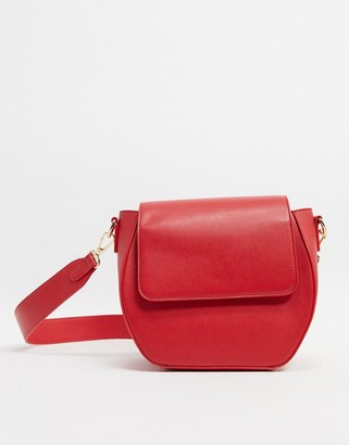 Truffle Collection Faux Leather Boxy Cross body