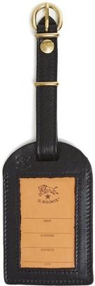 Il Bisonte Cowhide Luggage Label in Black