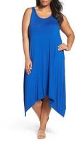 Sejour Plus Size Women's Jersey Sharkbite Hem Tank Dress