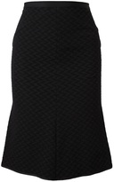 Nina Ricci geometric textured skirt