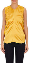 Helmut Lang Women's Ruched-Armhole Silk Satin Top