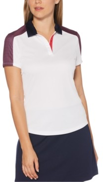 PGA Tour Print-Blocked Golf Polo
