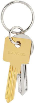 Jil Sander Silver Wrap Keychain