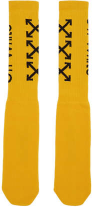 Off-White Off White Yellow Carry Arrows Socks