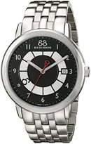 88 Rue du Rhone Men's 87WA140030 Double 8 Origin Analog Display Swiss Quartz Silver Watch