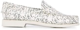 Societe Anonyme x Sebago graphic print low heel loafers