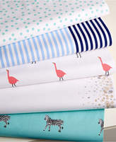 Whim by Martha Stewart Collection Printed Novelty Cotton Percale Queen Sheet Set