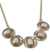 Anju Women's Necklaces light - Moonstone & Tri-Tone Embellished Bib Necklace