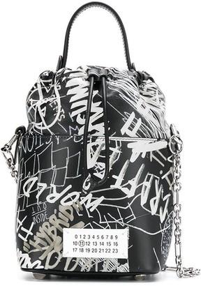 Maison Margiela Graphic Print Bucket Bag