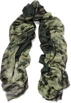 Karl Lagerfeld Printed modal scarf