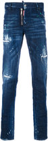 DSQUARED2 distressed slim fit jeans - men - Cotton/Spandex/Elastane - 44