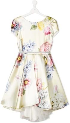 MonnaLisa TEEN floral short-sleeve dress