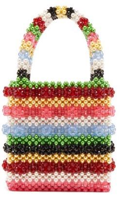 Shrimps Antonia Bead And Faux-pearl Embellished Bag - Multi