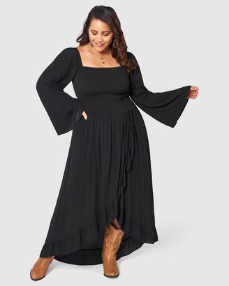 The Poetic Gypsy Dark Explorer Maxi Dress