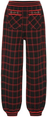 Gucci Embellished checked wool pants