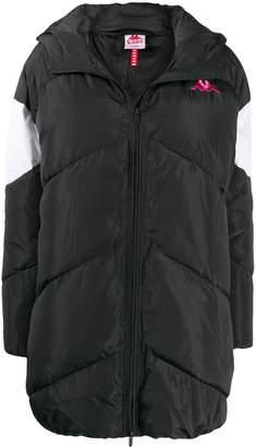 Kappa embroidered logo padded coat