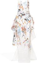 Monique Lhuillier Mikado floral column gown