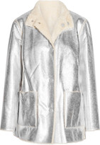 Opening Ceremony Culver Reversible Faux Shearling Coat - Silver