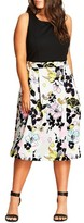 City Chic Plus Size Women's Art Darling Fit & Flare Dress