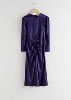 Thumbnail for your product : And other stories Ruched Satin Midi Dress