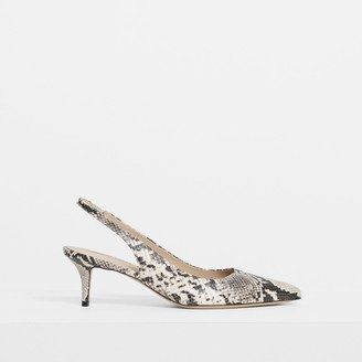 Theory City 55 Slingback In Python Print Leather