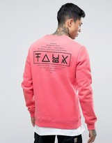 Friend Or Faux Limitless Back Print Sweater