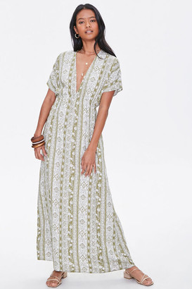 Forever 21 Plunging Floral Maxi Dress