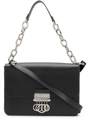 DSQUARED2 Knuckleduster-Flap Shoulder Bag