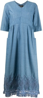 Zucca Chambray Flared Dress