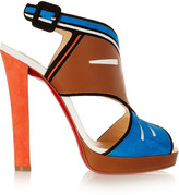 Christian Louboutin Zunitaco 120 leather and suede sandals