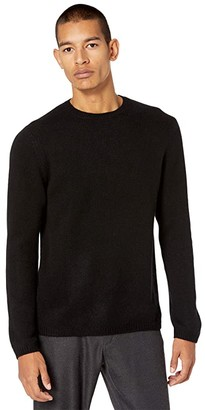 Vince Long Sleeve Crew Sweater (Black) Men's Clothing