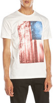 Body Rags Flag Motif Graphic Tee