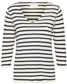 Part Two - Blue Stripe Dosta Knit - Medium - White/Blue